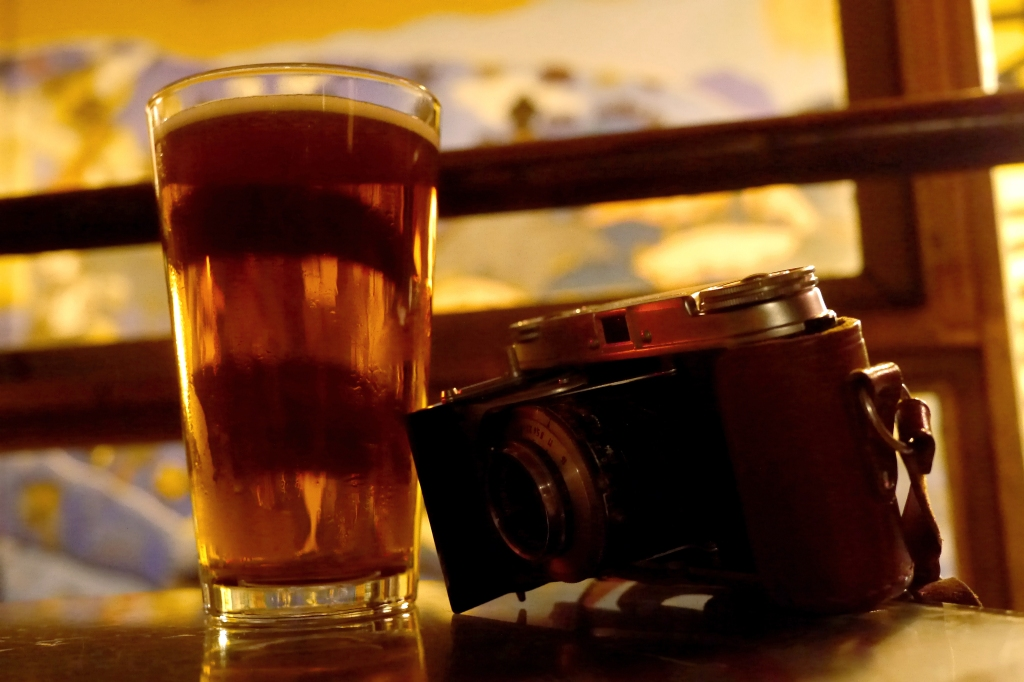 """whatever your plans are for the evening, you can't go wrong with a camera and a cold one"""